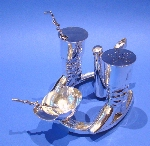 Silver 'Riding Boots & Hat' Cruet Set Made by Elkington & Co Birmingham 1949 Price £4,350.00