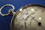 Victorian Silver Pocket Barometer Made by Philip Woodman London 1887 Price £645.00